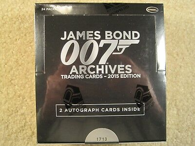 SEALED BOX 2015 Rittenhouse Archives James Bond Archives Trading Cards