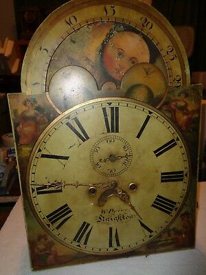 Antique-Moon Phase-Grandfather Clock Movement-Ca.1850-To Restore-#T63