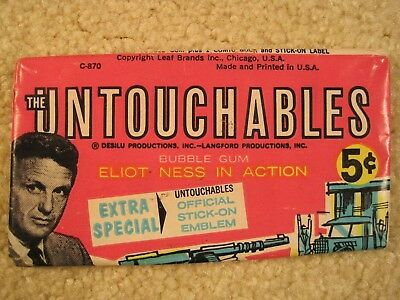 1962 Leaf The Untouchables Wrapper Robert Stack Eliot Ness