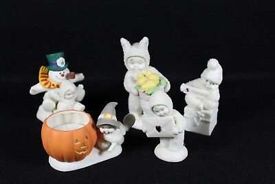 Lot of 5 Department 56 Snowbabies Great Condition