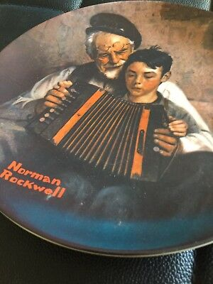 """Norman Rockwell """"The Music Maker"""" Plate 1981 1st Edition"""
