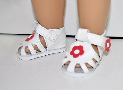 """American Girl Doll Our Generation 18"""" Dolls Clothes Shoes White Sandals"""