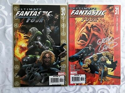Ultimate Fantastic Four #30 and #31 Signed by Greg Land With COAs