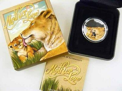2014 50c Mother's Love LIONESS 1/2oz Tuvalu Fine Silver Coin 1st coin in series