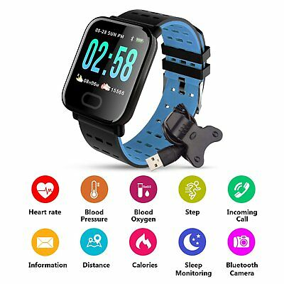 M20 Bluetooth Smart Watch Sleep Monitor Waterpoof Bracelet For Android iPhone US