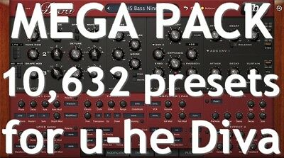 ✔ MEGA PACK_10,632 PRESETS_for u-he DIVA