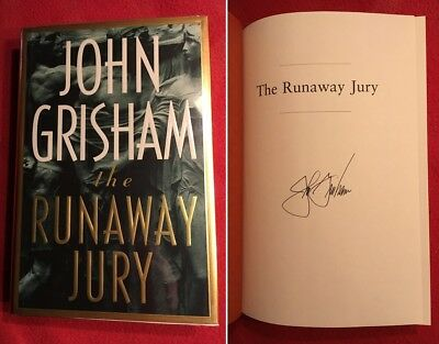 Authentic autograph JOHN GRISHAM signed 1st edition & print book nm-mt full sig