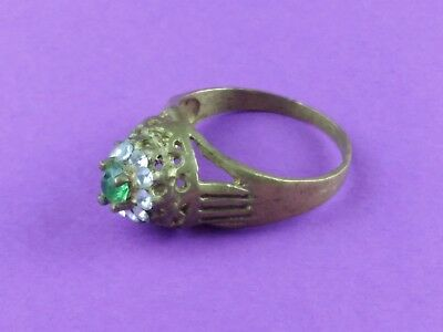 EXTREMELY RARE Ancient RING VIKING BRONZE WEDDING RING  VERY Stunning With Stone