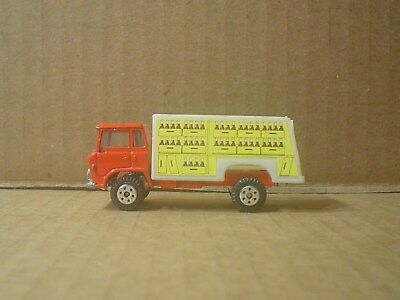 Coca Cola Die Cast and Plastic Delivery Truck ~ Red & Yellow ~ China
