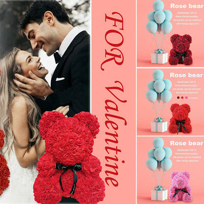 2019 Rose Flower Teddy Bear For Valentine's Day Girlfriend Gift Large Huge 40CM