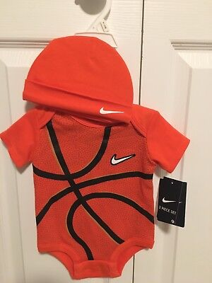 Nike Basketball One Piece With Hat Set New 0-3months