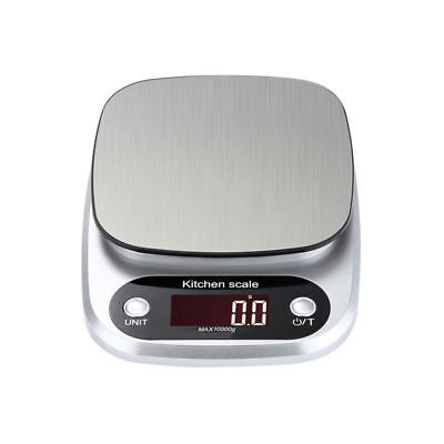 1 x Digital Stainless Steel Kitchen Scale LCD Screen Pocket Food Scale 10 kg/1g