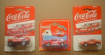 3 Coca Cola Vehicles Radio Grill Chevy Bel Air 4x4 Pickup Truck Red TURBO Car #8