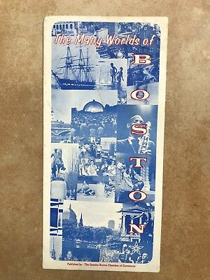 Vintage The Many Worlds of Boston Brochure Map