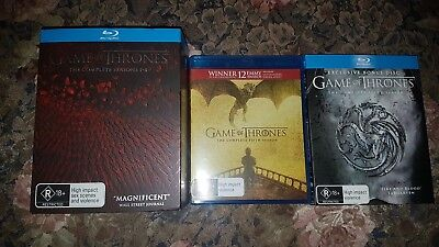 Game Of Thrones : Season 1-6 dvd blu-ray like new only watched once