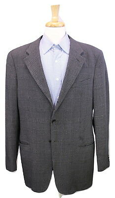 7ca5e143 MENS 44 R Armani Collezioni Brown Pin Dot Wool Sport Jacket Made ...