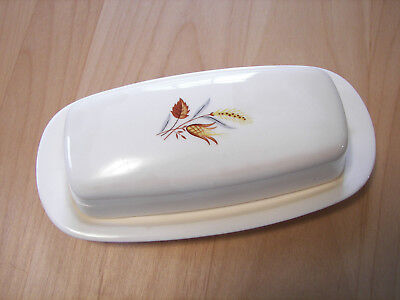 Vintage TST Autumn Harvest Wheat Butter Dish with Cover Taylor Smith