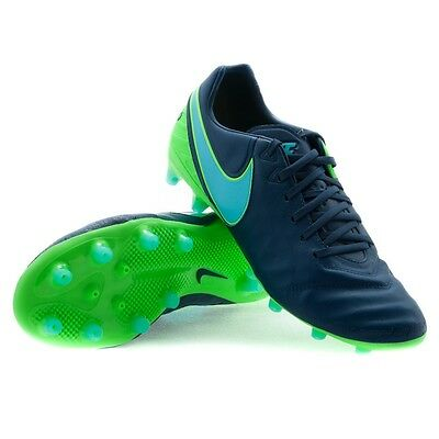 98fc80c03679  130 NEW Nike Tiempo Legacy II 2 AG-PRO Soccer Cleats Shoes Blue Turf 844397