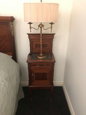 Pair of Original Antique French Bedside Cupboards