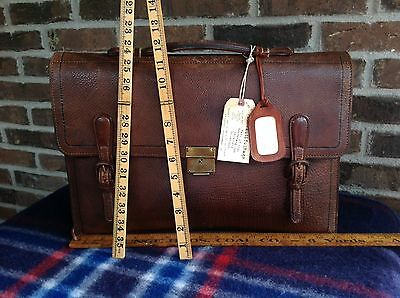 RARE VINTAGE 1930's CHINESE TRUNK CO BASEBALL GLOVE LEATHER BRIEFCASE BAG R$1898