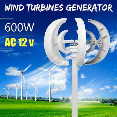 600W AC 12V 5 Blades Lanterns Type Wind Turbine Generator Vertical Axis Windmill