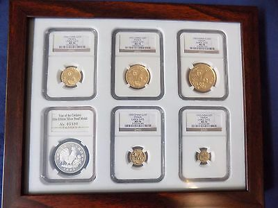 1993 China Gold Panda 6 Coins Ngc Ms 70 Large Date Complete Set Pop 1