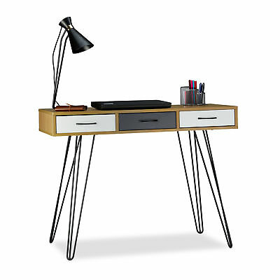 Modern Designer Writing Desk with 3 Drawers, Computer Desk, Table