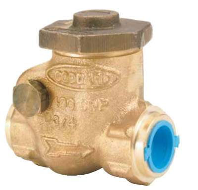 """Rego ½"""" Soft Seated Swing Check Valve For Cryogenic Service,400 Psig - Bronze"""