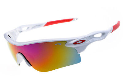 Sunglasses Polarized RADARLOCK PATHBaseball White/Red Golf Iridium