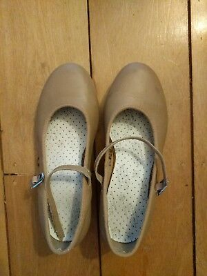 Bloch Tap Shoes - Leather Camel Tan - Childrens Size 5