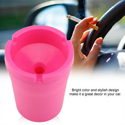 Portable Car Butt Bucket Cigarette Mini Cup Ashtray Smoke Ash Holder With Lid