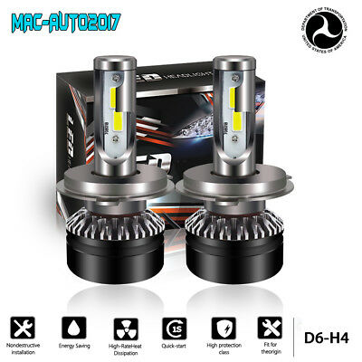 2019 TURBO SII H4 9003 HB2 LED Headlights Bulbs Conversion Kit Hi/Low Beams