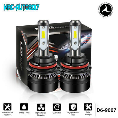 2X 9007 HB5 LED Headlight Bulb Hi/Lo Beam Conversion for Dodge Grand Caravan DOT