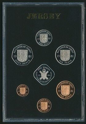 Jersey 1981 7 Coin Proof Set Includes Certificate