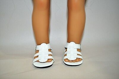 Our Generation American Girl Doll 18 Dolls Clothes Shoes White Sandals