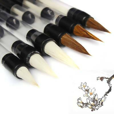 Water Brush Chinese Calligraphy Adjusted Pen Paper Goat Hair Practice Reusable