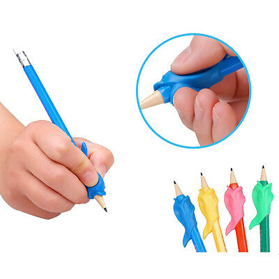 10X Silicone Fish Pencil Pen Grip Holder Children Writing Hold Corrector Tools