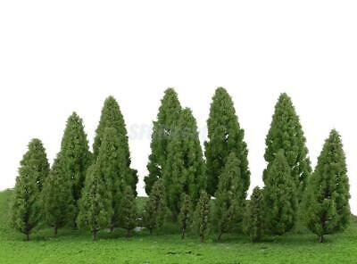 20pcs Lands Cape Scenery Trees Model Train Wargame Diorama Layout OO HO Scale