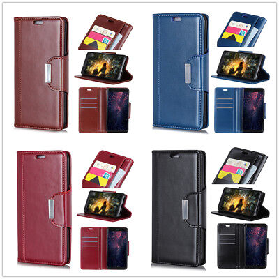 PU Leather Wallet Flip Cover Case For Samsung Galaxy A5-A8 J2-J8 S8-S10 X Cover