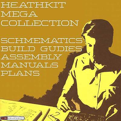 HEATHKIT Vintage Mega Collection, Manuals, Schematics, Assembly, Circuits 2000+