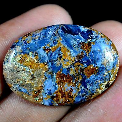 26.40 Ct Natural blue shine PIETERSITE 31X22X5 mm oval cab gems