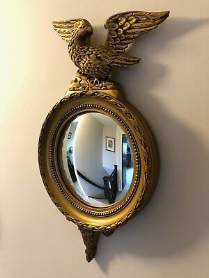 Gomme Vintage Gilt Convex Mirror with Eagle