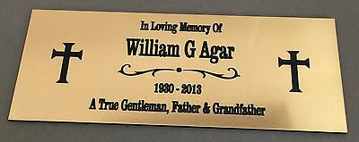 BP6 A TRUE GENTLEMAN Dad ABS Brass Memorial Plaque Engraved Grave Marker Plate
