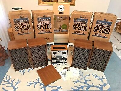 Vintage Retro 1972 1 Owner Akai X-360D Home Stereo Audio System In Original Box