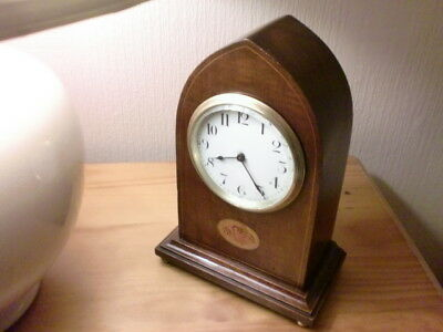 Fantastic Swiss 8Day Gothic  Clock Mahogany Case New Platform 1915
