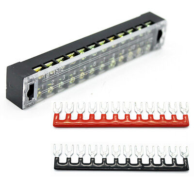 Dual Row Covered Electric Barrier Screw Fixed Terminal Block Positions 600V 25A