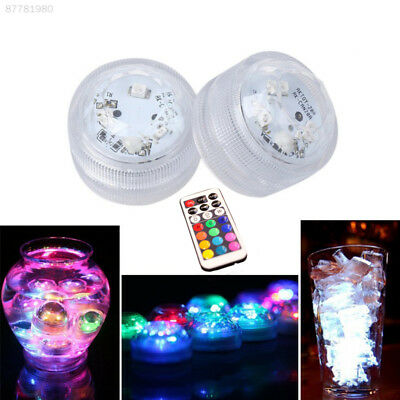 E34C Colorful LED Remote Control Waterproof Light For Vase Wedding Fish Tank