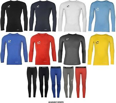 aeb5442568 SONDICO Boys Base Layer Top Pant or SET Bottoms Sports Football Skins Rugby