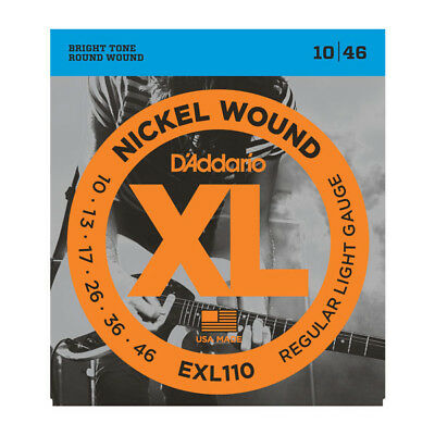 D'addario EXL110 Electric Guitar Strings 10-46  Full Set