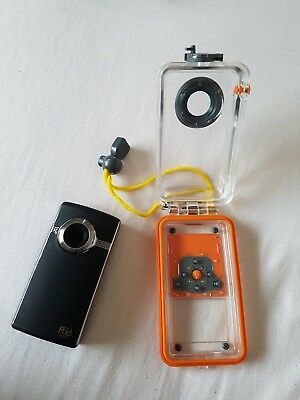 Flip UltraHD Video Camera with Waterproof Housing Case. Perfect cond. 4GB